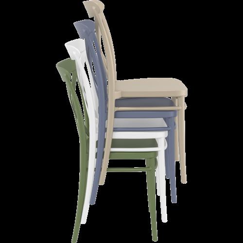 Siesta  Tuinstoel - Stapelbaar - Olijf Groen - Cross - Siesta