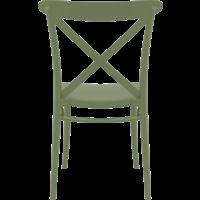 thumb-Tuinstoel - Stapelbaar - Olijf Groen - Cross - Siesta-6