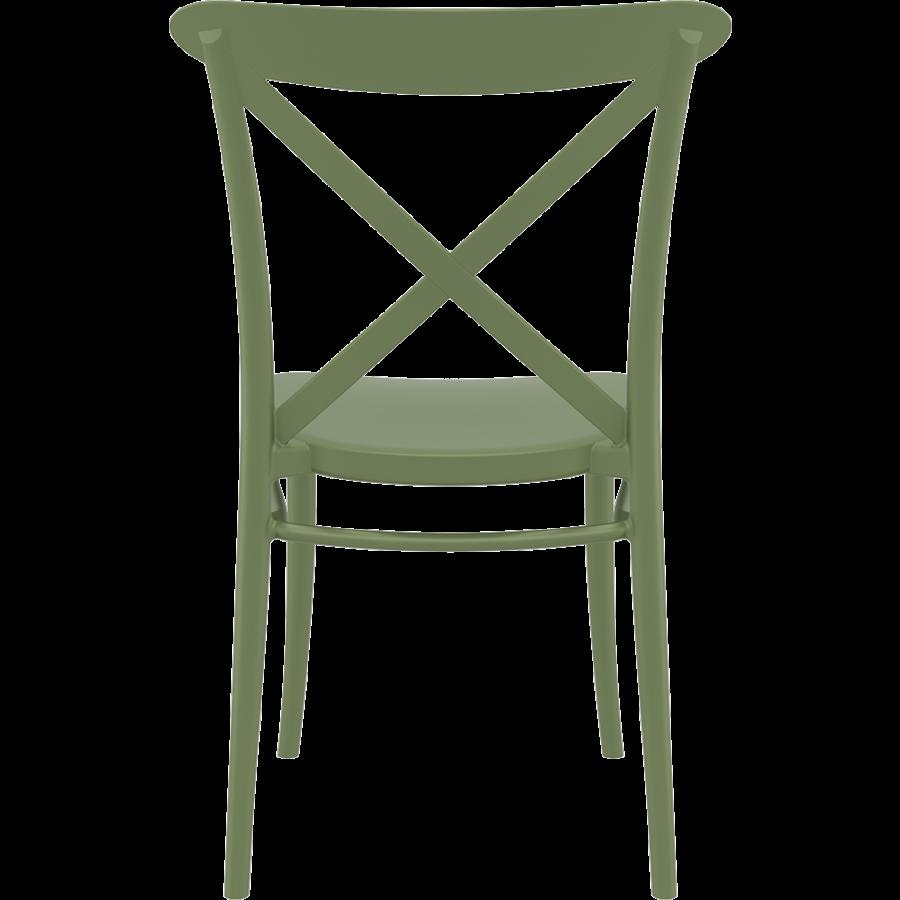 Tuinstoel - Stapelbaar - Olijf Groen - Cross - Siesta-6