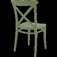 thumb-Tuinstoel - Stapelbaar - Olijf Groen - Cross - Siesta-7