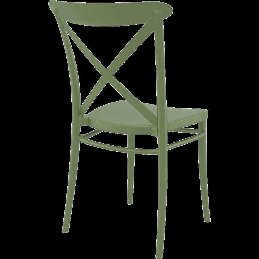 Tuinstoel - Stapelbaar - Olijf Groen - Cross - Siesta-7