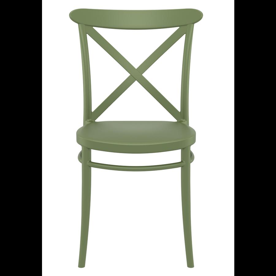Tuinstoel - Stapelbaar - Olijf Groen - Cross - Siesta-2