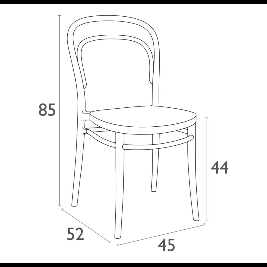 Tuinstoel - Stapelbaar - Wit - Marie - Siesta-10
