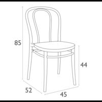 thumb-Tuinstoel - Stapelbaar - Zwart - Victor - Siesta-10