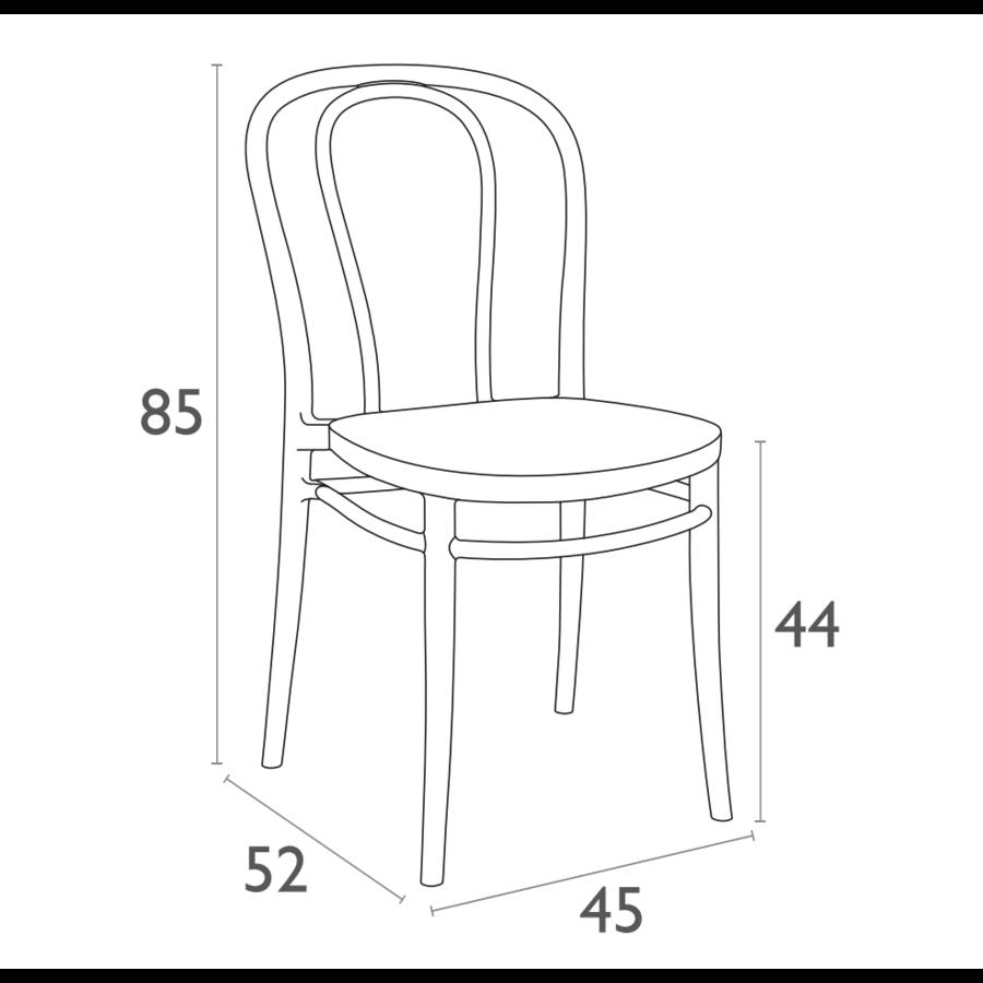 Tuinstoel - Stapelbaar - Zwart - Victor - Siesta-10