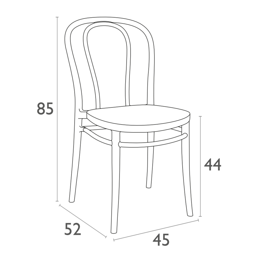 Tuinstoel - Stapelbaar - Wit - Victor - Siesta-10