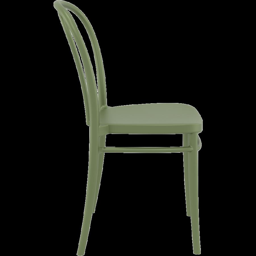 Tuinstoel - Stapelbaar - Olijf Groen - Victor - Siesta-8
