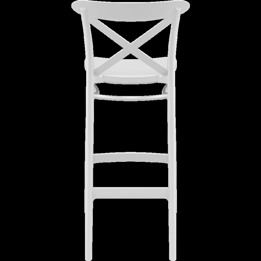 Barkruk - 75 cm - Cross - Wit - Siesta-5
