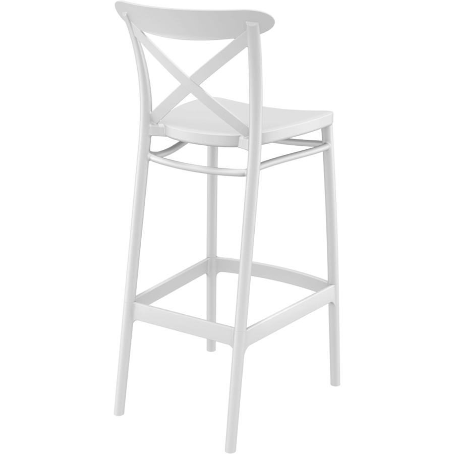 Barkruk - 75 cm - Cross - Wit - Siesta-6
