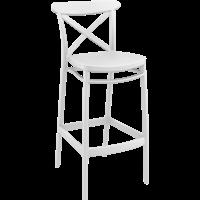 thumb-Barkruk - 75 cm - Cross - Wit - Siesta-1