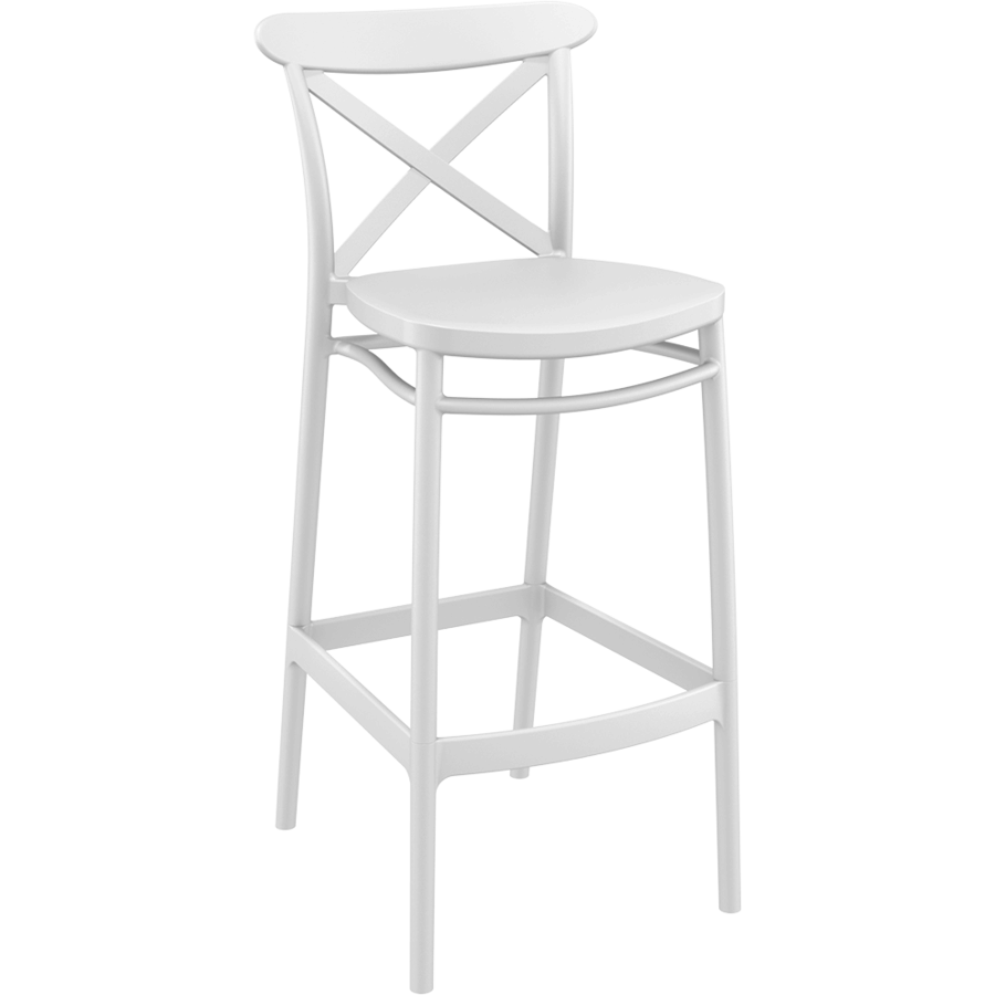Barkruk - 75 cm - Cross - Wit - Siesta-1
