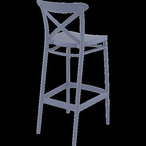 Siesta  Barkruk - 75 cm - Cross - Donkergrijs - Siesta