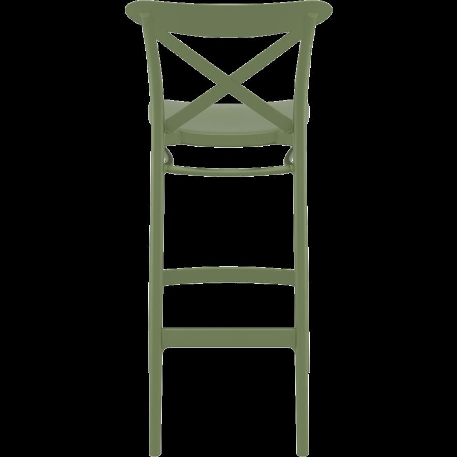 Barkruk - 75 cm - Cross - Olijf Groen - Siesta-5