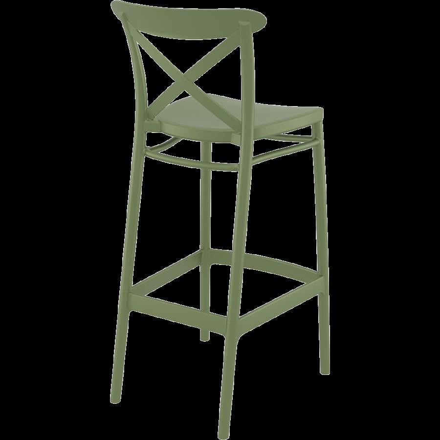 Barkruk - 75 cm - Cross - Olijf Groen - Siesta-6