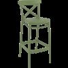 Siesta  Barkruk - 75 cm - Cross - Olijf Groen - Siesta
