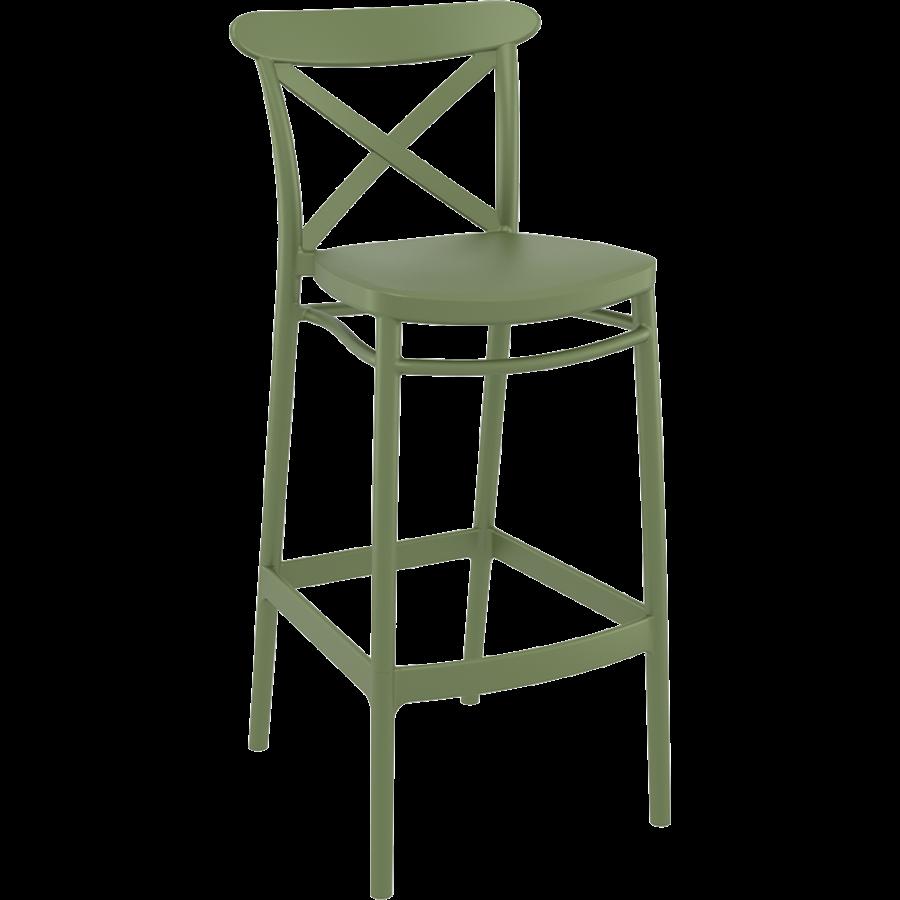 Barkruk - 75 cm - Cross - Olijf Groen - Siesta-1