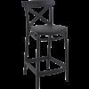 Siesta  Counter Barkruk - 65 cm - Cross - Zwart - Siesta