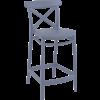 Siesta  Counter Barkruk - 65 cm - Cross - Donkergrijs - Siesta