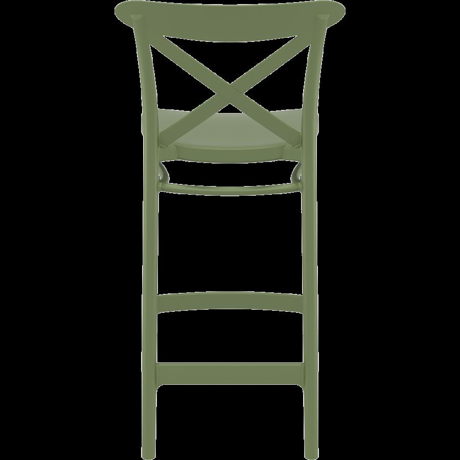 Counter Barkruk - 65 cm - Cross - Olijf Groen - Siesta-5