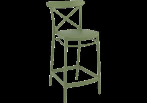 Counter Barkruk - 65 cm - Cross - Groen - Siesta