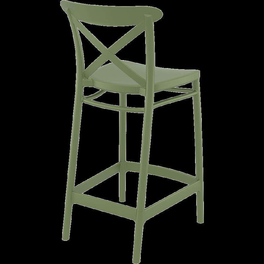 Counter Barkruk - 65 cm - Cross - Olijf Groen - Siesta-6