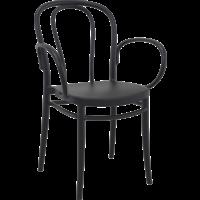 Tuinstoel - Stapelbaar - Zwart - Victor XL - Siesta