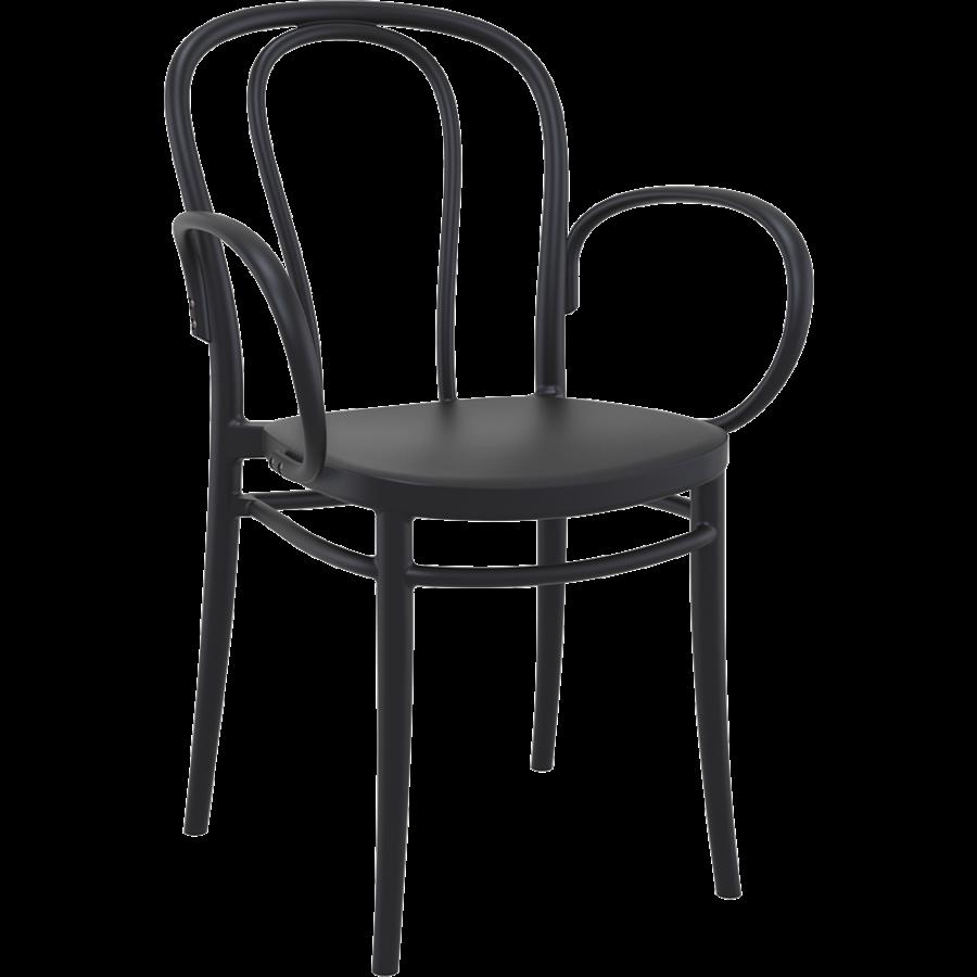 Tuinstoel - Stapelbaar - Zwart - Victor XL - Siesta-1