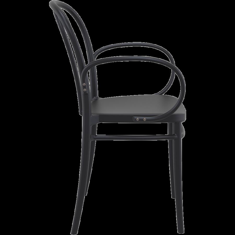 Tuinstoel - Stapelbaar - Zwart - Victor XL - Siesta-5