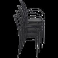thumb-Tuinstoel - Stapelbaar - Zwart - Victor XL - Siesta-6