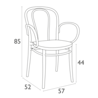 thumb-Tuinstoel - Stapelbaar - Wit - Victor XL - Siesta-8