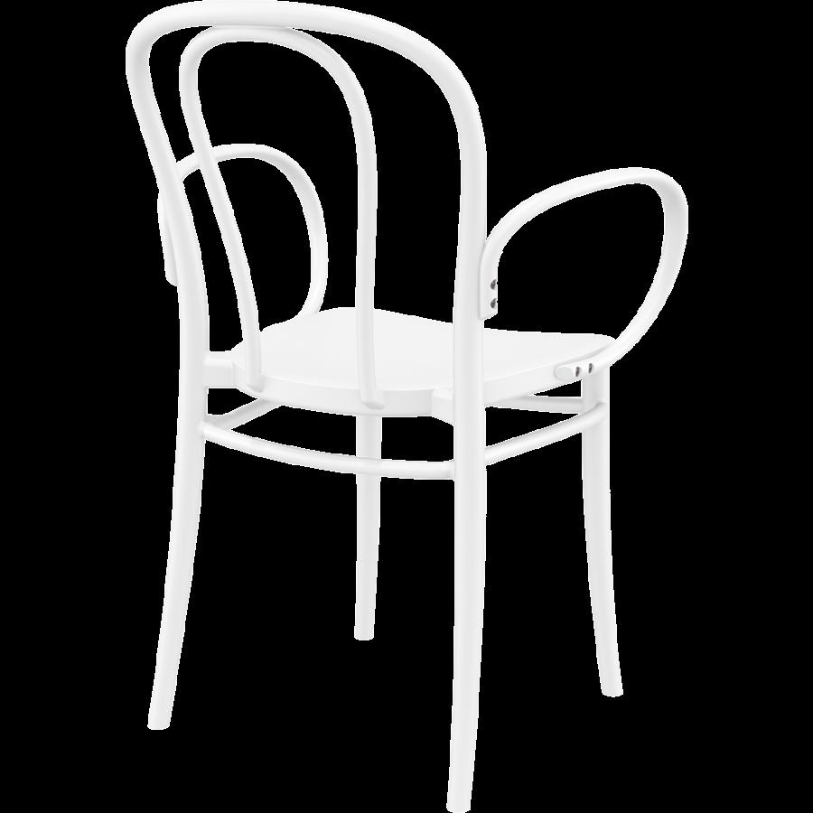 Tuinstoel - Stapelbaar - Wit - Victor XL - Siesta-6
