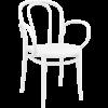 Siesta  Tuinstoel - Stapelbaar - Wit - Victor XL - Siesta