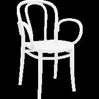 thumb-Tuinstoel - Stapelbaar - Wit - Victor XL - Siesta-1