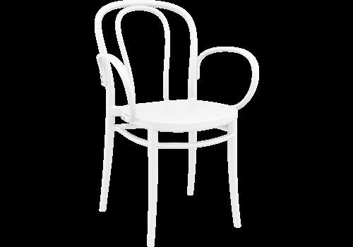 Tuinstoel - Stapelbaar - Wit - Victor XL - Siesta