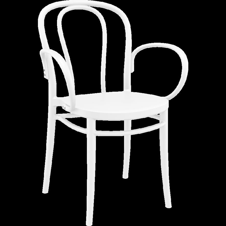 Tuinstoel - Stapelbaar - Wit - Victor XL - Siesta-1