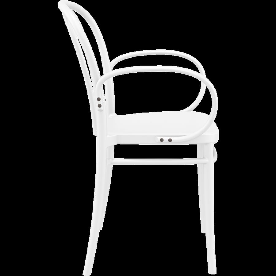 Tuinstoel - Stapelbaar - Wit - Victor XL - Siesta-5