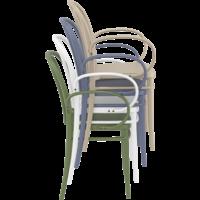 thumb-Tuinstoel - Stapelbaar - Wit - Victor XL - Siesta-9