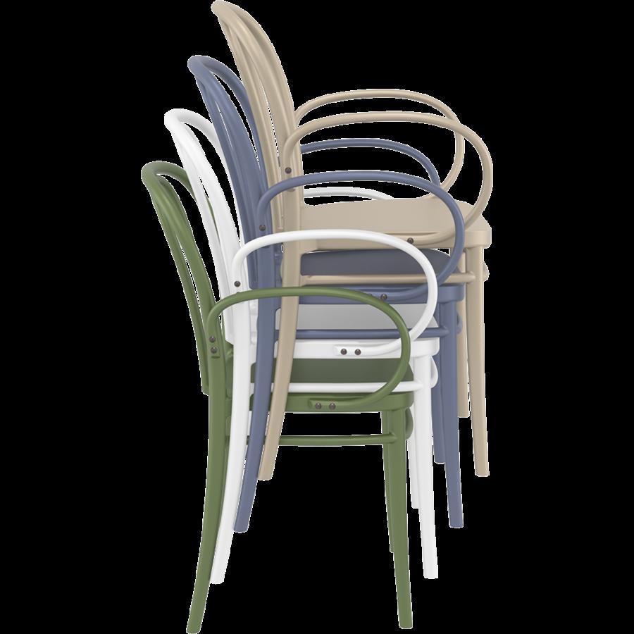 Tuinstoel - Stapelbaar - Wit - Victor XL - Siesta-9