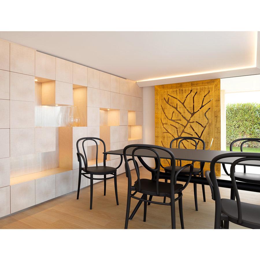 Tuinstoel - Stapelbaar - Donkergrijs  - Victor XL - Siesta-8