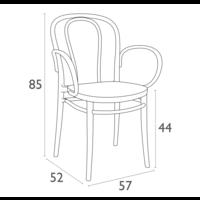 thumb-Tuinstoel - Stapelbaar - Donkergrijs  - Victor XL - Siesta-10