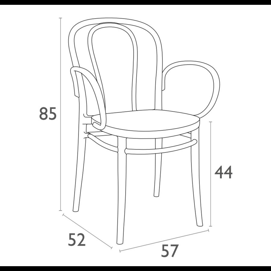 Tuinstoel - Stapelbaar - Donkergrijs  - Victor XL - Siesta-10