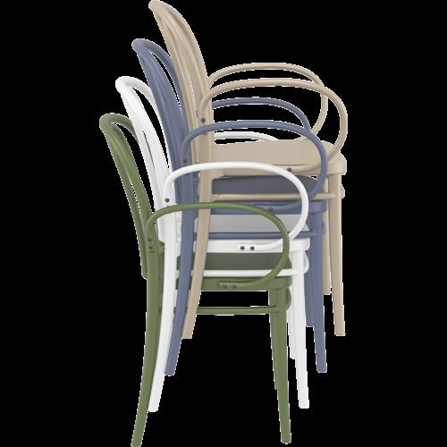 Siesta  Tuinstoel - Stapelbaar - Donkergrijs  - Victor XL - Siesta