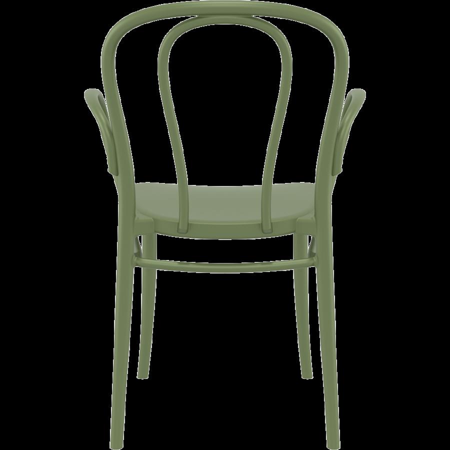 Tuinstoel - Stapelbaar - Olijf Groen - Victor XL - Siesta-4