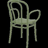thumb-Tuinstoel - Stapelbaar - Olijf Groen - Victor XL - Siesta-5