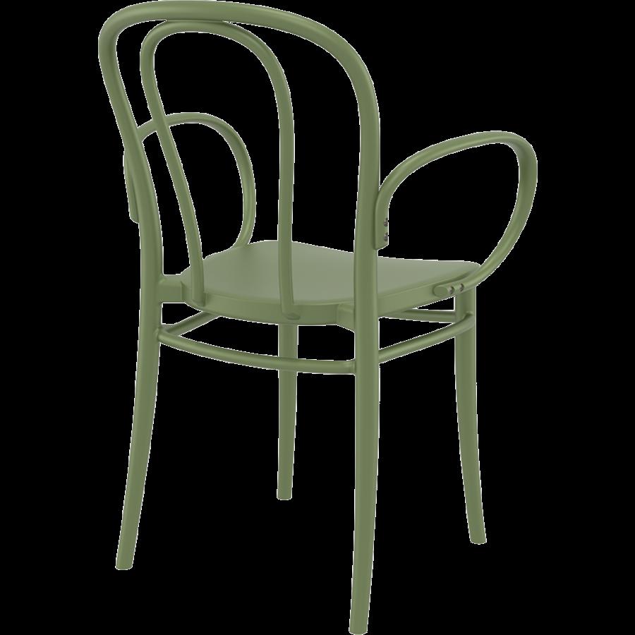 Tuinstoel - Stapelbaar - Olijf Groen - Victor XL - Siesta-5