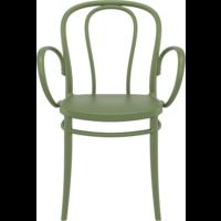 thumb-Tuinstoel - Stapelbaar - Olijf Groen - Victor XL - Siesta-2