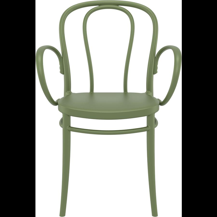 Tuinstoel - Stapelbaar - Olijf Groen - Victor XL - Siesta-2