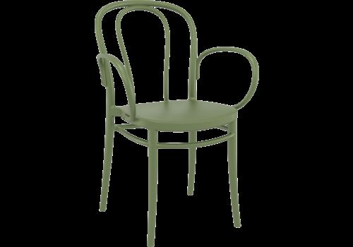 Tuinstoel - Stapelbaar - Olijf Groen - Victor XL - Siesta
