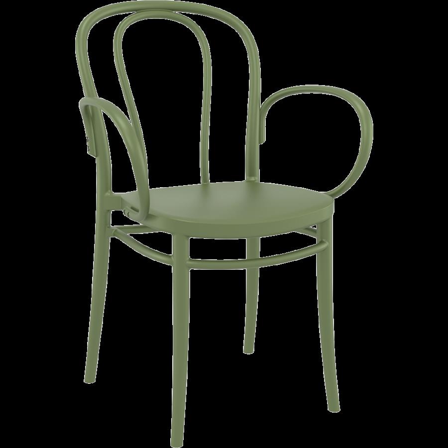 Tuinstoel - Stapelbaar - Olijf Groen - Victor XL - Siesta-1