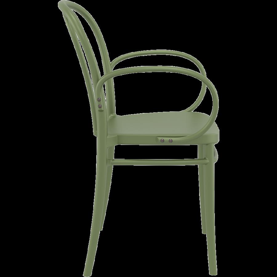 Tuinstoel - Stapelbaar - Olijf Groen - Victor XL - Siesta-6